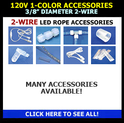 LED Rope Light 120V 12V 24V 1 2 3 8 Diameter