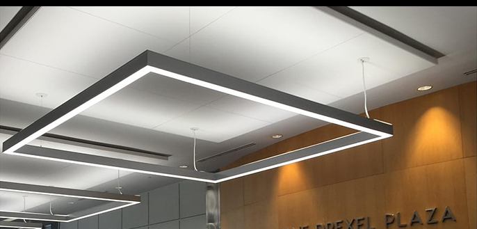 Square Led Sleek Linear Suspended Up Down Light 4 Foot