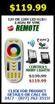 Superchip™ Exclusive RGB+White Remote Control, 2.4GHz, Syncable, Controls Many Lights, 4-Zones