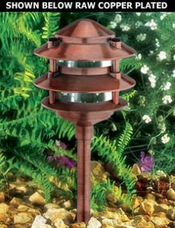 3 tier a19 medium base raw copper plated aluminum pagoda light aloadofball Image collections
