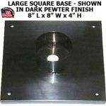 "Large Square Style Base For Post or Post Top Light With 3"" Dia. Fitter"