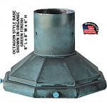 "Octagon Style Base For Post or Post Top Light With 3"" Dia. Fitter"